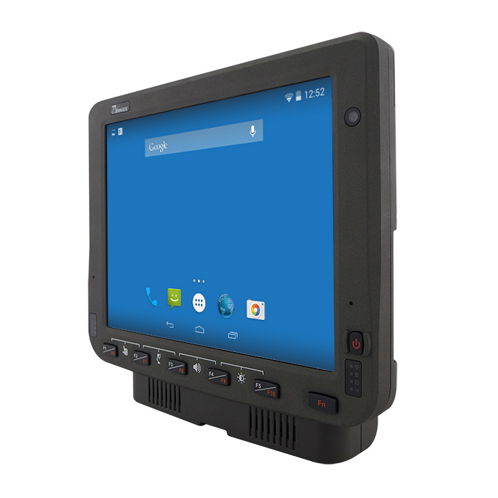 10.4-inch Android Vehicle Mounted Computer FM10A Angle View with Dock